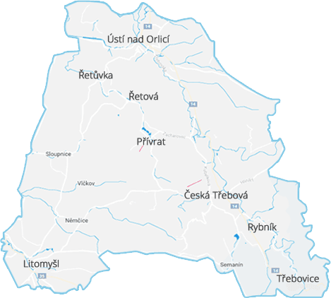 Ústí nad Orlicí, Česká Třebová a okolí